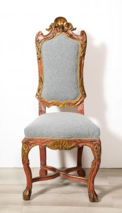 Italian Painted and Gilt Rococo Chair - 2013798