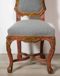 Italian Painted and Gilt Rococo Chair - 2013799