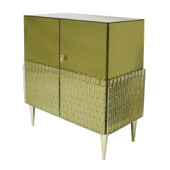 Italian Pair Of Golden Glass Sideboard - 820490