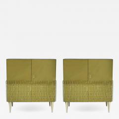 Italian Pair Of Golden Glass Sideboard - 821088