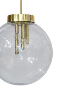 Italian Pulegoso Glass Brass Chandeliers Six Available - 1589541