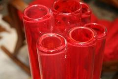 Italian Red Vase from Murano - 500522