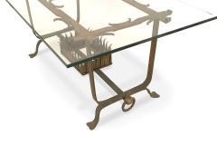 Italian Renaissance Gilt Iron and Glass Coffee Table - 1428779