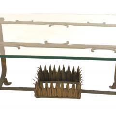Italian Renaissance Gilt Iron and Glass Coffee Table - 1428780