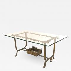 Italian Renaissance Gilt Iron and Glass Coffee Table - 1430547