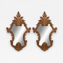 Italian Rococo Carved Fruitwood Wall Mirrors - 1403276