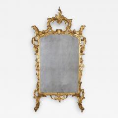 Italian Rococo Carved Gilt Wood Mirror - 2120329