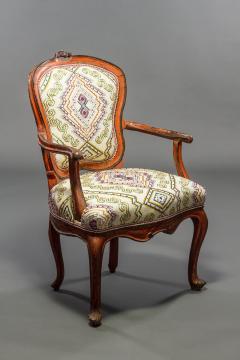 Italian Rococo Painted Fauteuil en Cabriolet - 1771233