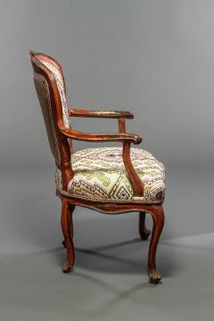 Italian Rococo Painted Fauteuil en Cabriolet - 1771245
