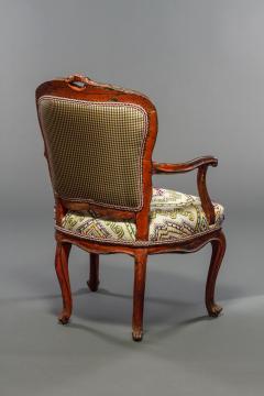 Italian Rococo Painted Fauteuil en Cabriolet - 1771246