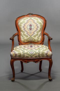 Italian Rococo Painted Fauteuil en Cabriolet - 1771248