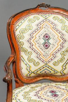 Italian Rococo Painted Fauteuil en Cabriolet - 1771268