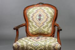 Italian Rococo Painted Fauteuil en Cabriolet - 1771294