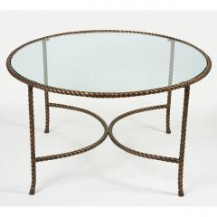 Italian Round Solid Bronze Rope and Tassle Cocktail Table - 774587