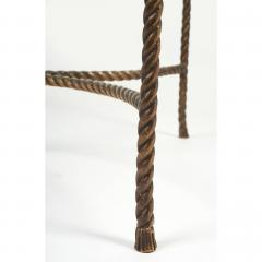 Italian Round Solid Bronze Rope and Tassle Cocktail Table - 774588
