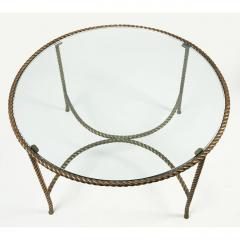 Italian Round Solid Bronze Rope and Tassle Cocktail Table - 774589