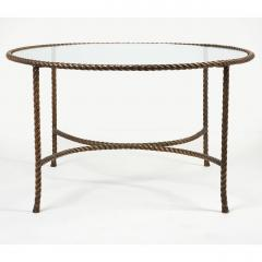 Italian Round Solid Bronze Rope and Tassle Cocktail Table - 774590