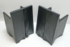 Italian School Black Leather Chairs - 208890
