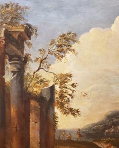 Italian School Italian School Capriccio Oil Painting of Roman Ruins - 1188236