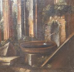 Italian School Italian School Capriccio Oil Painting of Roman Ruins - 1188237