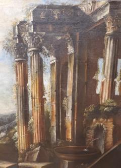 Italian School Italian School Capriccio Oil Painting of Roman Ruins - 1188238