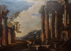 Italian School Italian School Capriccio Oil Painting of Roman Ruins - 1188240