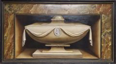Italian School Italian School Trompe Loeil 18th Century Fireboard - 1160822