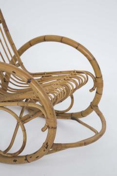 Italian School Italian Vintage Bamboo Rocking Chair 1950s - 2138838