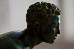 Italian School Nude Male Runner Classical Bronze After the Antique - 1206016