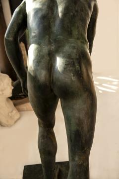 Italian School Nude Male Runner Classical Bronze After the Antique - 1206023