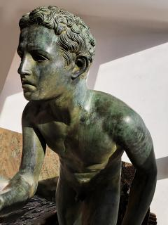 Italian School Nude Male Runner Classical Bronze After the Antique - 1206025