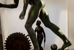 Italian School Nude Male Runner Classical Bronze After the Antique - 1206027