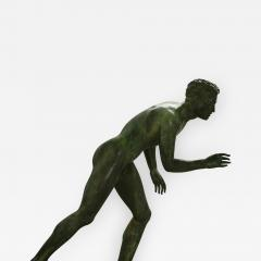 Italian School Nude Male Runner Classical Bronze After the Antique - 1207084