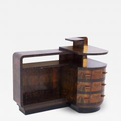 Italian School Rationalist Italian Vintage Sideboard in Walnut and Bakelite - 2053617