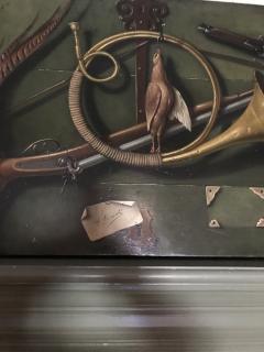 Italian School Very Unusual Large and Visual Trompe Loeil Game Painting on Board - 1313193