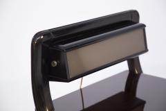 Italian School Vintage Backlit Nightstands in Wood Metal and Glass - 2054607