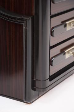Italian School Vintage Backlit Nightstands in Wood Metal and Glass - 2054616