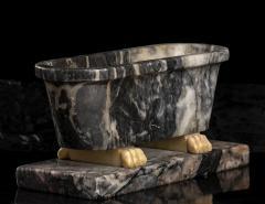 Italian Sculpture Grand Tour Carved Marble Reduction Of a Bath Rome Boschetti - 2075406