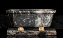 Italian Sculpture Grand Tour Carved Marble Reduction Of a Bath Rome Boschetti - 2075407