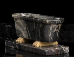 Italian Sculpture Grand Tour Carved Marble Reduction Of a Bath Rome Boschetti - 2075408