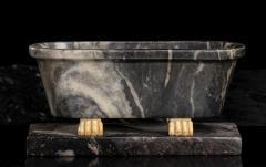 Italian Sculpture Grand Tour Carved Marble Reduction Of a Bath Rome Boschetti - 2075410
