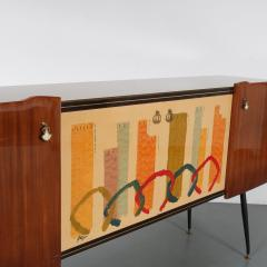 Italian Sideboard with Signed Painting on the Doors 1950 - 1540664