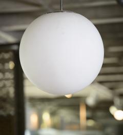 Italian Single Opaline Ball Hanging Fixture 70s - 346395