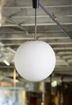 Italian Single Opaline Ball Hanging Fixture 70s - 346396