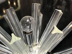 Italian Spherically Shaped Sputnik Crystal Wall Sconce 1970s - 1086379