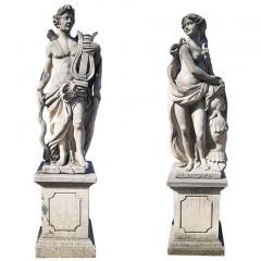 Italian Stone Garden Sculptures of Roman Mythological Subject Minerva - 1661342