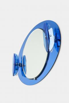 Italian Veca cobalt mirror with two lights 1970 - 1937895