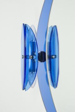 Italian Veca cobalt mirror with two lights 1970 - 1937900
