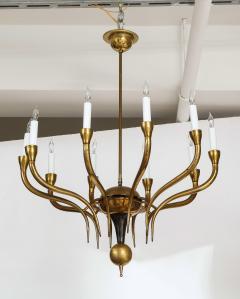 Italian Vintage Brass Ten Light Chandelier - 2132926