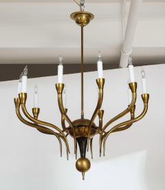 Italian Vintage Brass Ten Light Chandelier - 2132927